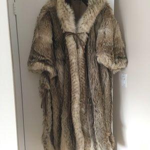 Fur cape